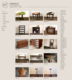 retour WEB SITE by masaomi fujita, via Behance