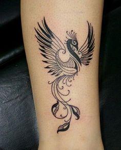 Tattoo Rose Leg Birds Ideas - Tattoo Rose Leg Birds Ideas Informations About Tattoo Rose Leg Birds Ideas Pin You c - Mom Tattoos, Finger Tattoos, Body Art Tattoos, Sleeve Tattoos, Tattoos For Women, Phoenix Tattoo Feminine, Phoenix Bird Tattoos, Phoenix Tattoo Design, Pretty Tattoos