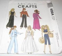 Free Printable Doll Clothes Patterns   Barbie Dolls Patterns