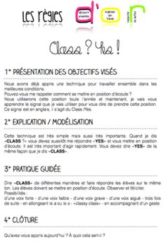 Des mini-leçons en vie de classe ! (comportement + méthodologie)