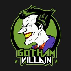 Shop Villain t-shirts designed by as well as other merchandise at TeePublic. Gotham, Joker Kunst, Dc Comics, Joker Und Harley Quinn, Joker T Shirt, Joker Wallpapers, Typography Poster Design, Joker Art, Batman Universe