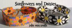 JULIE ANN SMITH DESIGNS Sunflowers and Daisies  Bracelet Pattern