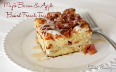 Maple Bacon & Apple Baked French Toast - This was, well, AMAZING. Awesome make ahead breakfast - perfect for the holidays!!