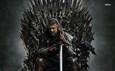 Game of Thrones - Ned Stark on the iron throne - - Full HD Ned Stark, Sansa Stark, Eddard Stark, Watch Game Of Thrones, Game Of Thrones Series, Game Of Thrones Funny, Game Of Thrones Quotes, Game Of Thrones Characters, Jaime Lannister