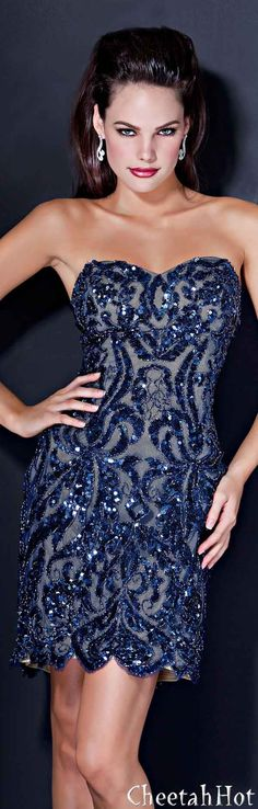 JOVANI - Sparkling Blue Dress