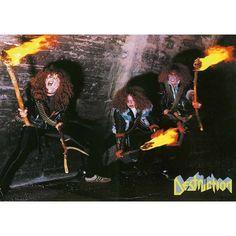Post Band ( Destruction ) Destruction Band, Thrash Metal, Death Metal, Metal Bands, Hard Rock, Thunder, Classic, Hair, Kiss Rock Bands