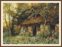Diane's Cottage Counted cross stitch pattern in by Maxispatterns