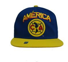 88e62c80df553 Details about Club America Snapback Adjustable Cap Hat - Yellow - Blue - Red