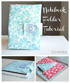 Notebook Folder Tutorial - with pockets! #sewing