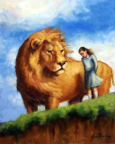 This is a scene from Narnia: The Silver Chair by C. Jill and Eustace enter Narnia and shortly thereafter, they discover a cliff. Remember the Signs Aslan Narnia, The Silver Chair, Prophetic Art, Lion Of Judah, Chronicles Of Narnia, Cs Lewis, Fantasy, Science Fiction, Fairy Tales