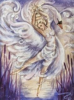 DeviantArt - The Largest Online Art Gallery and Community Flying Together, Fantasy Pictures, Swan Lake, Dance Art, First Tattoo, Watercolor Illustration, Folklore, Online Art Gallery, Art Boards