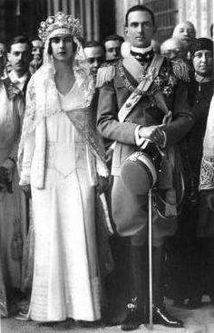 Crown Prince Umberto of Italy and Princess Marie José of Belgium