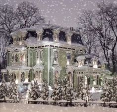 The Silas W.Robbins House - a Second Empire style mansion built in 1873 in Wethersfield-CT. Victorian Architecture, Beautiful Architecture, Beautiful Buildings, Victorian Homes Exterior, Victorian Style Homes, Exterior Homes, Victorian Decor, Classical Architecture, Victorian Era
