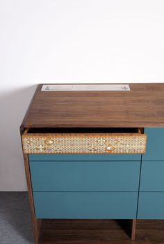 #Technology meets #design: Fleur De Noyer Chest of Drawers with Tech Station