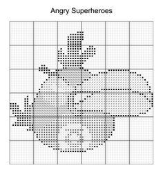 Cross Stitch - Angry Bird Superheroes 8 of 16 - green lantern