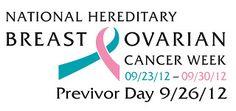 """Celebrate Previvor Day: BRCA """"Previvor"""" and Advocate for BRCA   Focus on Cancer"""