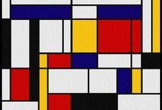 Composition en rouge, jaune, bleu et noir (1926). Artiste : Piet Mondrian. Mots clés : coloré, géométrique