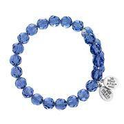 8MM Tanzanite Crystal Wrap Bracelet - Wind & Fire