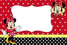 Fazendo a Minha Festa!: Minnie Vermelha - Kit Completo com molduras para convites, rótulos para guloseimas, lembrancinhas e imagens!
