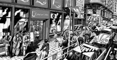 Miguel Navia retrata las calles de Madrid – Nice Fucking Graphics! 2d Art, Illustration, Berlin, Ink, Inspiration, Big Books, Cities, Words, Art