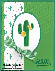 Birthday Fiesta Cactus Hello by Michelerey - Cards and Paper Crafts at Splitcoaststampers