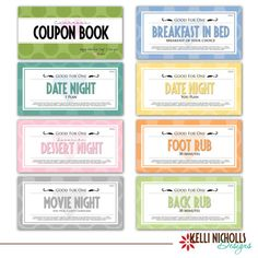 Coupon book for your special guy <3