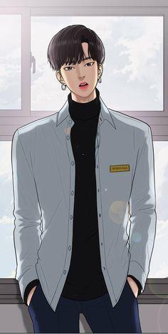 Seojun True Beauty from Webtoon Handsome Anime Guys, Cute Anime Guys, Anime Sexy, Anime Boys, Bad Boys, Cute Boys, Anime Couples, Cute Couples, Korean Anime