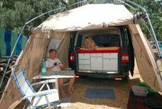 VanEssa Mobilcamping - Camping Ausbau für Deinen Van - T5, T6, Mercedes u.v.m. - Vaude Drive Van Zelt für deinen Van