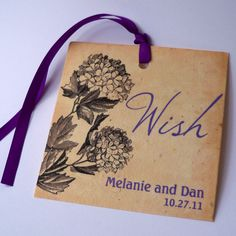 Hey, I found this really awesome Etsy listing at http://www.etsy.com/listing/99371092/wedding-wishing-tree-tags-plantable