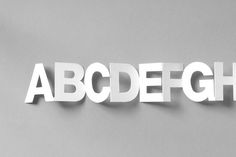 Paper Chain Type by IS Creative Studio , via Behance