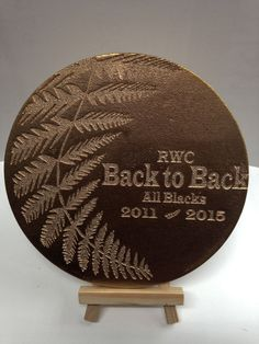 All blacks souvenir RWC 2015 Rugby World Cup Final by DreamADesign All Blacks Rugby, World Cup Final, Rugby World Cup, Eternal Love, Laser Cutting, Decorative Plates, Carving, Cool Stuff, Inspiration