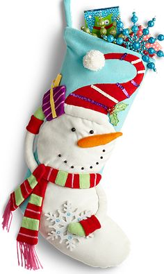 Bring colorful playfulness to your living room with a Whimsy Snowman Stocking from Pier 1