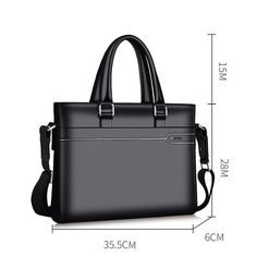 LAORENTOU Business Handbags & Crossbody Bags, Genuine Leather