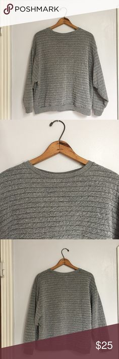 "Zara Trafaluc salt & pepper striped sweater - Size: S - Material: N/A - Condition: good - Color: salt and pepper (speckles of black and white to make a gray appearance) - Pockets: no - Lined: no - Closure: none - Extra notes:   *Measurements:  Bust: 23.5"" flat Waist: 21.25"" flat Length: 23.5"" Sleeve: 29"" Zara Sweaters Crew & Scoop Necks"