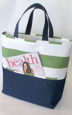 IsaLee Designs Striped Beach Tote Bag