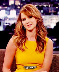 Jennifer Lawrence: *wink!* (gif) Stop being perfect!