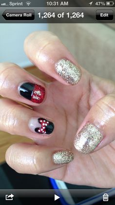 Minnie & Mickey Nails