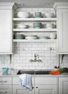 shelving over kitchen sink | Space Saving Tips for Small Kitchens | HomeJelly