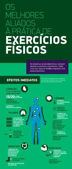 Infográfico com benefícios das atividades físicas
