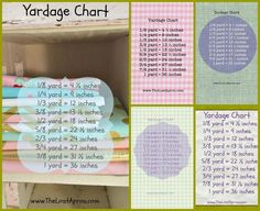 Free PDF : Yardage Chart