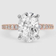 14K Rose Gold Petite Shared Prong Diamond Ring (1/4 ct. tw.)