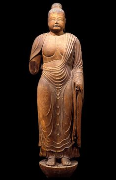 An important cultural asset of Japan, Denyakushi Nyorai statue in Toshodai-ji Temple, Nara, Japan, from Nara Period (8th century) 重要文化財 伝薬師如来立像