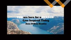 "YOU are here for a REASON: You Have a Purpose By Anna DeBose Hankins: ""Ok God. I just want to lie here and enjoy my massage. Please? I really don't want to speak today. Ok? I'd really appreciate it. Thanks."" And with that I settled in to quietly enjoy my massage I'd spontaneously booked at the last minute..."
