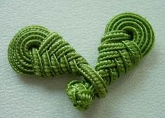 For use on a crochet sweater, etc. ~This is sample of Pipa knot used as button and loop. See directions under other Pipa Knot