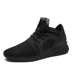 1a07f5dc7f1f13 Men's Light Soles Rubber / Tulle Spring / Fall Comfort Sneakers Walking  Shoes Slip Resistant Black