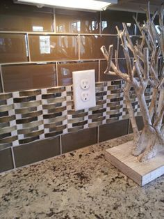 Kitchen Backsplash Accent Tiles Photos subway tiles with mosaic accents |  backsplash with tumbled
