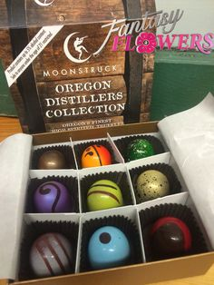 Moonstruck truffles are available at #FantasyFlowers Oregon distillery collection. Premium chocolates