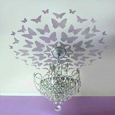 butterfli, little girls, ceiling design, wall decals, nurseri, ceiling medallions, little girl rooms, project nursery, stencil