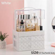 Make Up Organiser, Organiser Box, Cosmetic Storage, Cosmetic Case, College Makeup, Makeup Containers, Makeup Dressing Table, Makeup Drawer Organization, Elegant Makeup