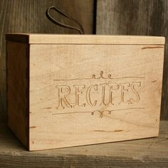 Recipe box. Totally want one for my bday!